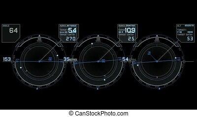 panneau, radar, logiciel, technologie ordinateur