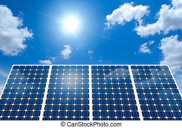 panneau solaire, et, les, soleil