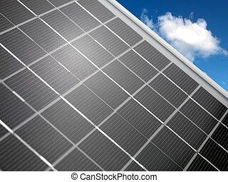 panneau, solaire
