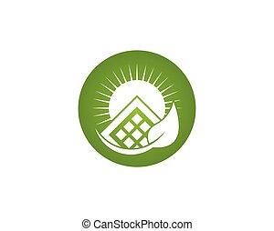 panneau, vecteur, énergie, logo, solaire