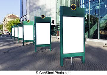 panneaux affichage, vide