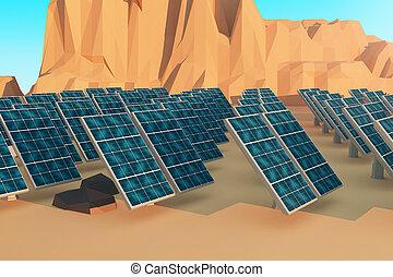 panneaux,  closeup, solaire