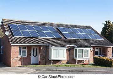panneaux, pavillons, solaire