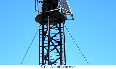 panneaux, phare, petit, solaire