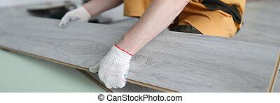 panneaux, plancher, remplace, appartement, laminate, réparateur
