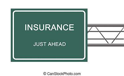 panneaux signalisations, à, assurance