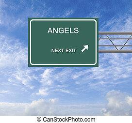 panneaux signalisations, business, ange