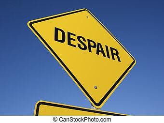 panneaux signalisations, désespoir