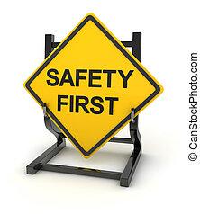 panneaux signalisations, -, sûreté abord