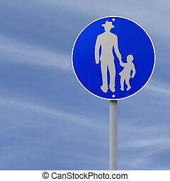panneaux signalisations, sentier