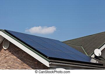 panneaux, solaire