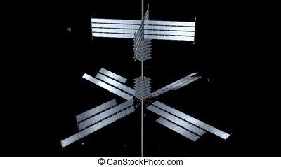 panneaux, solaire, opérer