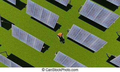 panneaux solaires, fonctionnement, caractère