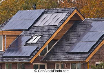 panneaux solaires, maison