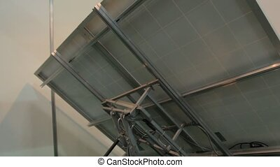 panneaux, système, solaire, poursuite