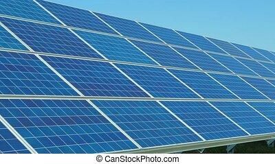 panneaux, turbines, solaire, vent