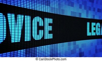 pannel, светодиод, стена, текст, совет, правовой, знак,...