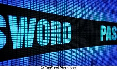 pannel, mené, mur, texte, panneau signe, mot passe,...