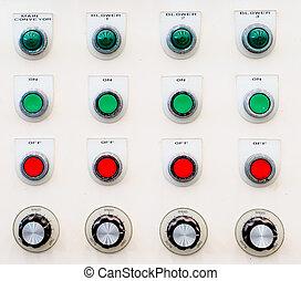 pannello controllo, bottone