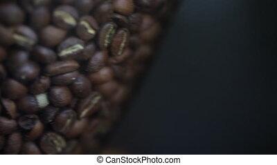 panning, grit, van, koffie bonen