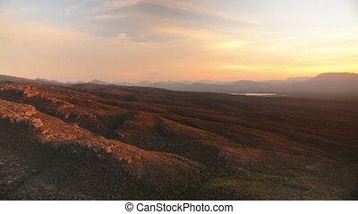 Panning Mountain Sunset