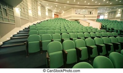 panning of empty auditorium with seats - panning of empty...