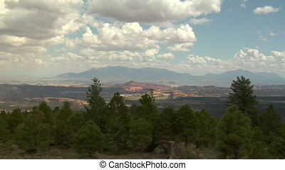 panning shot of Vista at natural Bridges national Monument Utah
