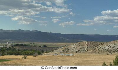panning shot over Manti Utah