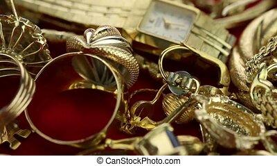 panning through jewelry