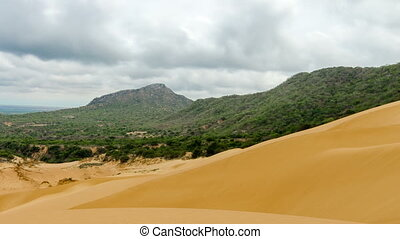 Panning Time Lapse of a Sand Dune - Time lapse video panning...