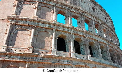 Panning Time-Lapse of the Colosseum Closeup - Panning...