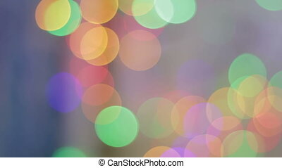 Panning to the right:Bokeh circles slowly change color