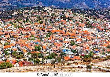 Pano Lefkara village in Cyprus. - Panoramic view of Pano...