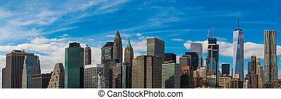panoráma, közül, new york