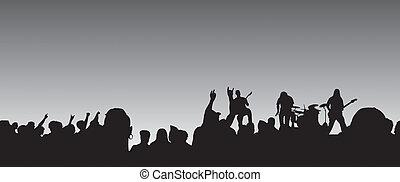 panorámico, concierto