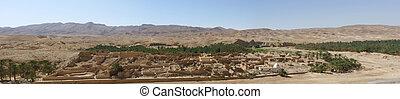 panorámico, desierto, ciudad
