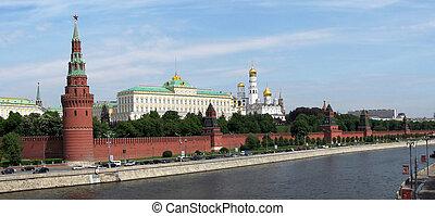 panorámico, kremlin, moscú, vista