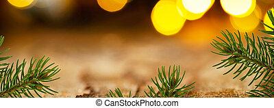 panorámico, plano de fondo, detalle, twig., navidad