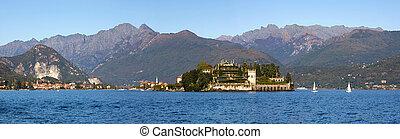 panorámico, vista., lago maggiore