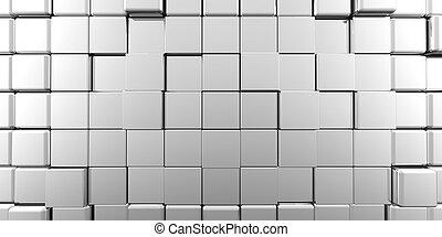 panorâmico, abstratos, cubos