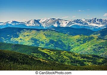 panorâmico, colorado, montanhas