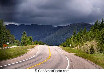 panorâmico, estrada