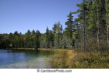 panorâmico, lago