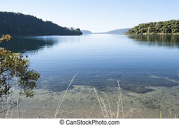 panorâmico, lake.