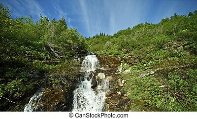 panorâmico, montana