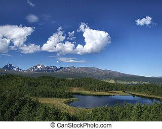 panorâmico, paisagem, em, noruega