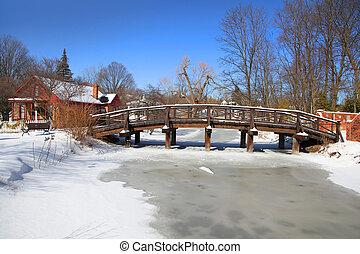 panorâmico, paisagem inverno