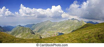 panorâmico, paisagem montanha