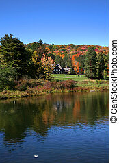 panorâmico, paisagem outono