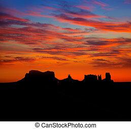 panorâmico, parque, nós, estrada, vale monumento, amanhecer, 163